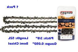 """14-Inch Semi Chisel 52 Drive Links Chainsaw Chain 3/8"""" Pitch"""