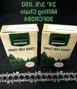 """2 PACK 24"""" Forester HUSQVARNA  Milling Chainsaw Ripping Chai"""