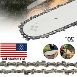 "20"" Chainsaw Saw Chain Blade 3/8""LP .058 Gauge 72DL Replacem"