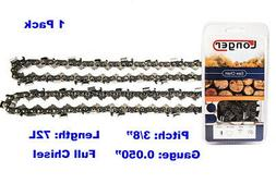 """20-Inch Full Chisel 72 Drive Links Chainsaw Chain 3/8"""" Pitch"""
