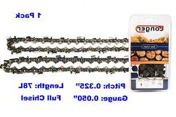 """20-Inch Full Chisel 78 Drive Links Chainsaw Chain .325"""" Pitc"""