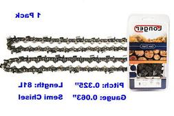 """20"""" Semi Chisel 81 Links Chainsaw Drive Chain .325"""" Pitch .0"""