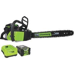 Greenworks 2000002 80V Cordless Lithium-Ion Pro 18 in. Chain
