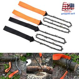 24inch Portable Survival Chain Saw Chainsaw Emergency Campin