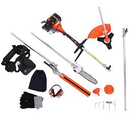 Iglobalbuy 52cc 2-Stroke 5 in 1 Long Reach Pole Chainsaw Hed