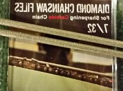 """7/32 Diamond Chainsaw file 7/32"""" for Carbide chain 2 pack fo"""