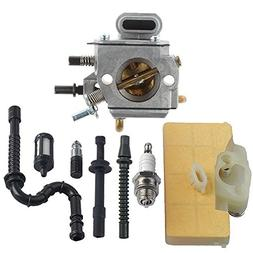HIPA Carburetor with Air Filter Fuel Line Repower Kit for ST