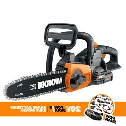 Cordless 20V Chainsaw with Auto-Tension and Auto-Oiling + Ba