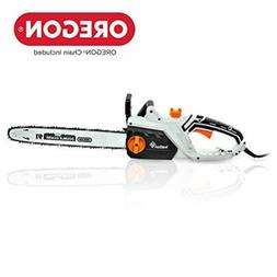 Ivation 16 Inch 15.0 Amp Electric Chainsaw w Auto Oiling, Au