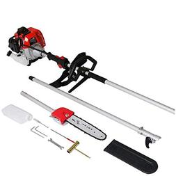 Maxtra Gas Pole Saw, 42.7CC 2-Cycle 8.2FT to 11.4 FT Extenda