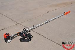 Tool Tuff Gas Powered Pole Chain Saw, 10' Reach, Collapsible