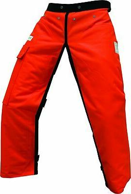 """Forester Chainsaw Apron Chaps with Pocket, Orange 35"""" Length"""