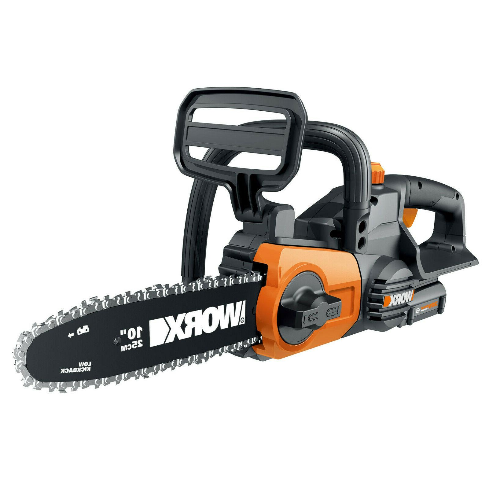 Cordless 20V Chainsaw Auto-Tension and + Battery