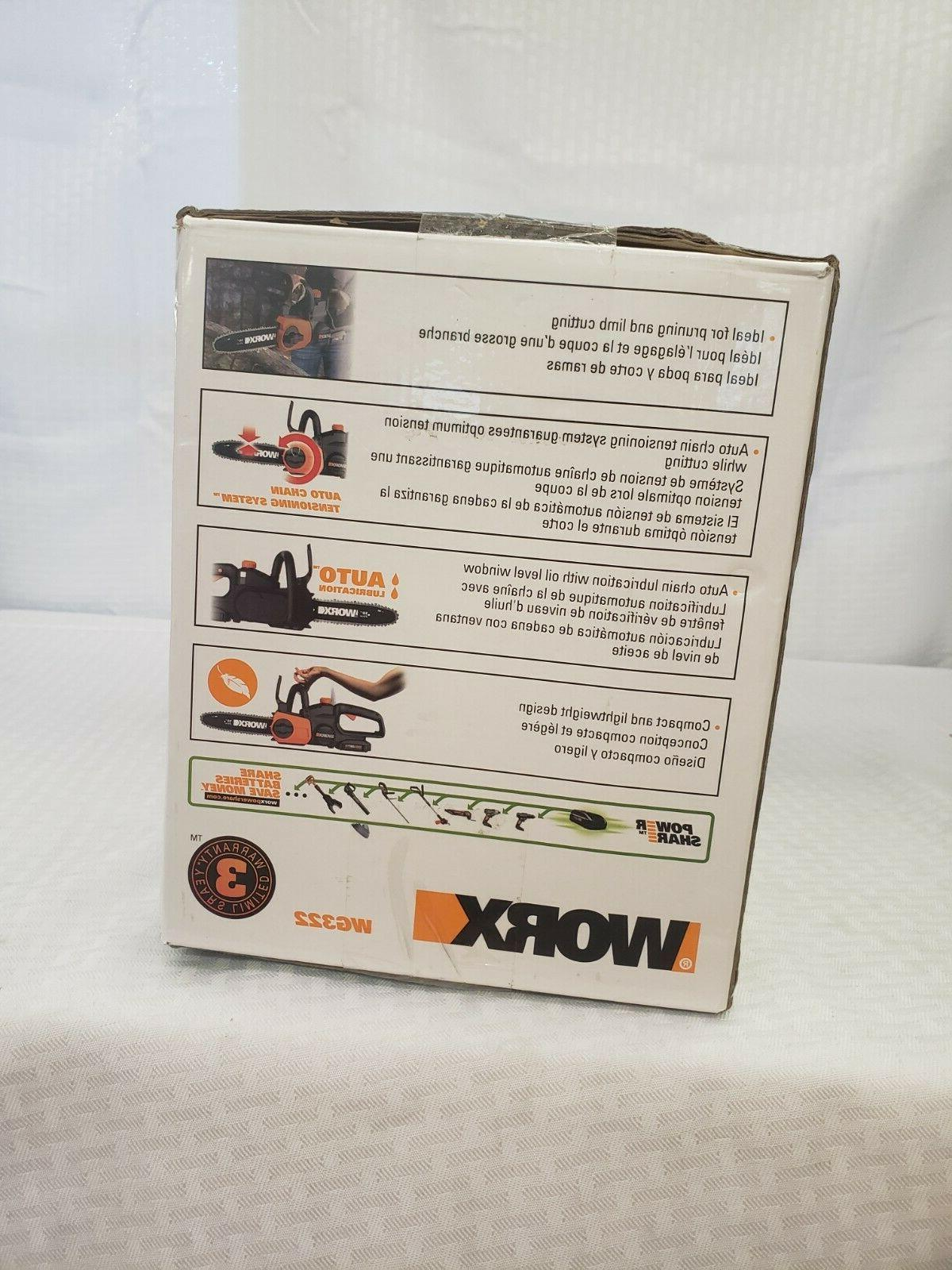 Cordless Chainsaw Charger, Worx WG322