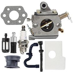 Butom MS170 Carburetor with Air Filter Tune Up Kit for Stihl