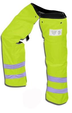 Forester Protective Trimmer Safety Chaps, Safety Green, Larg