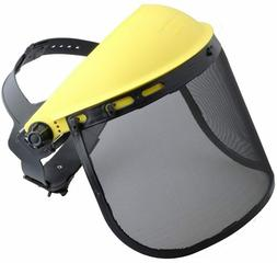 Safety Face Shield with Mesh Visor for Chainsaw Trimmer Pole