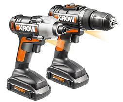 WORX WX916L 20V Lithium Powershare Drill and Impact Driver